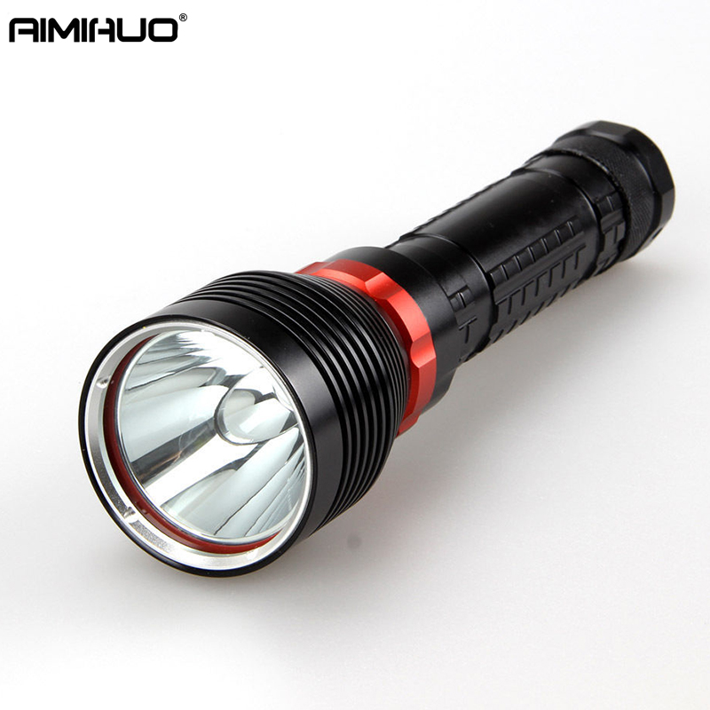 AIMIHUO Cree L2 LED Diving Flashlight 6000LM 100m Underwater Flashlight LED Torch waterproof Torch Lamp For 18650/26650 Battery 100m underwater diving flashlight led scuba flashlights light torch diver cree xm l2 use 18650 or 26650 rechargeable batteries