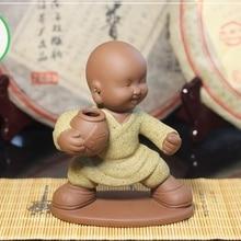 Чайная фигурка для набора Кунг Фу Ча Мальчик с винным бочонком(жёлтая одежда
