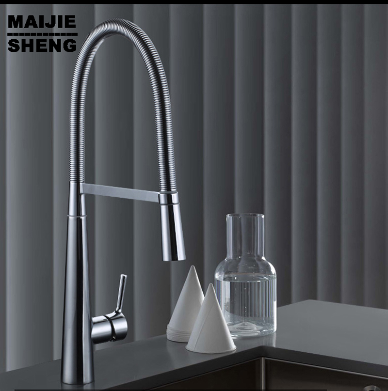 ФОТО New Torneira Copper Wire drawing Kitchen Faucet Hot And Cold Sink Faucets Contemporary Handle Chrome Torneiras Pia Cozinha Tap