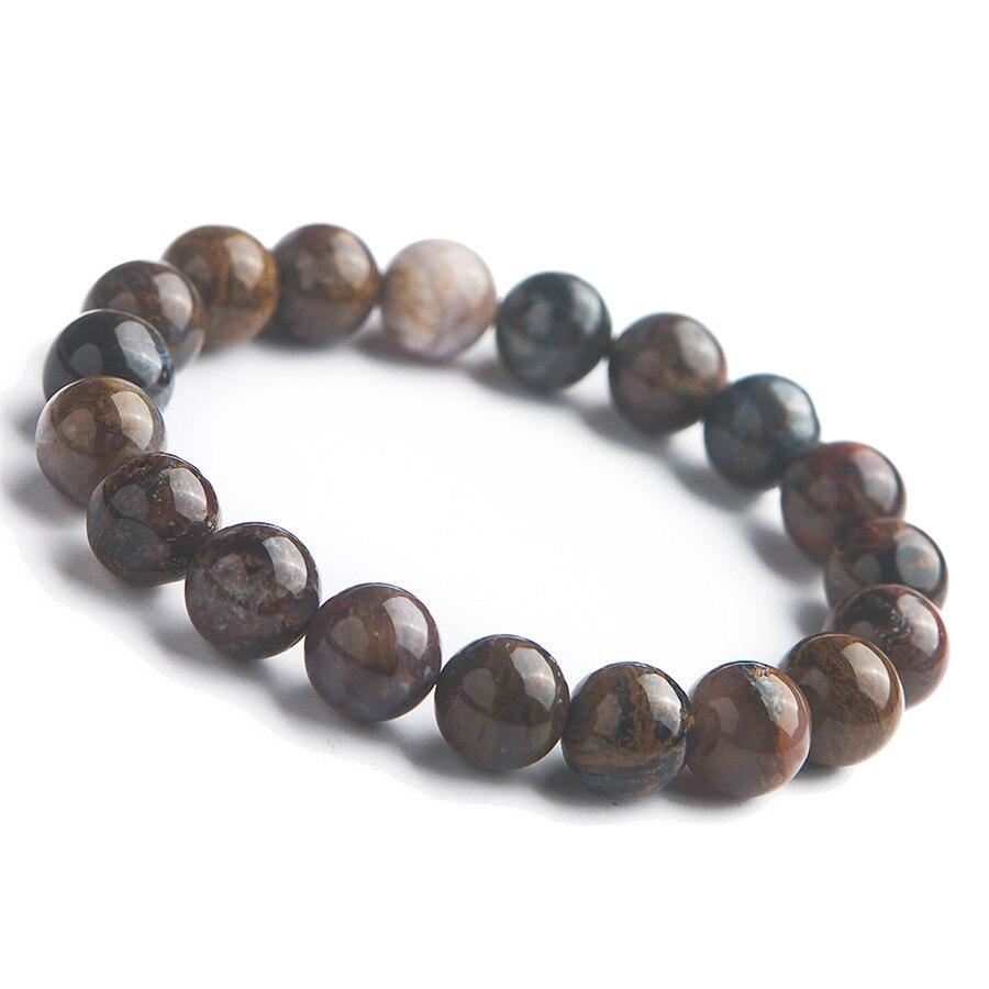 Véritables pierres précieuses naturelles Pietersite pierre cristal extensible puissant Bracelet de perles rondes 10mm
