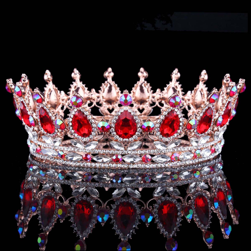 Vrući europski dizajni kraljevski kralj kraljica kruna rhinestone - Modni nakit - Foto 3