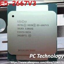 Oryginalny Intel Xeon OEM wersja E5 2667V3 procesora E5 2667V3 3.2GHz 8 rdzeń 20M LGA2011 3 135W 1 rok gwarancji E5 2667 V3