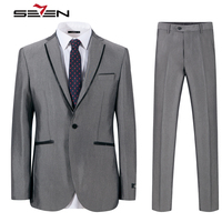 Seven7 Brand Wedding Suits For Men Groom Male Suit Slim Fit Business Prom Tailor Tuxedo Custom