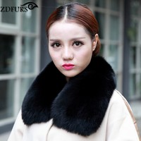 2019 Real Fox Fur Collar Women's Fur Scarf Winter Neck Warmer Clothing Accessories 9 Colors
