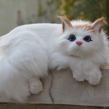 Imitated Simulation Lifelike Cute Cat Decorative On TV Plush Fur decorative Cat On Window Car Decoration