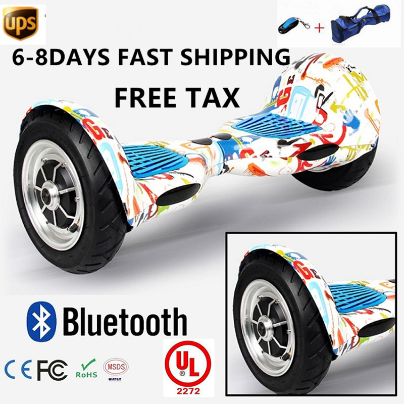 "Blackeagle white electric scooter hoverboard bluetooth and remote control - 10 ""700 watts motor"