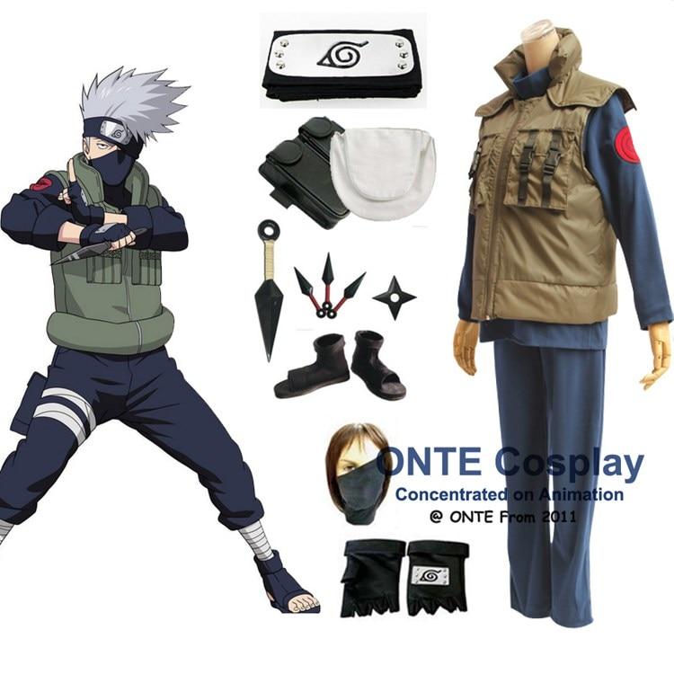 Anime Naruto Cosplay Kostymer Shippuden Hatake Kakashi Deluxe - Maskeradkläder och utklädnad