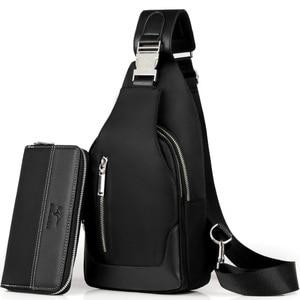 Image 3 - Brand Chest Pack Men Casual Shoulder Crossbody Bag USB Charging Chest Bag Waterproof Oxford Travel Sling Bag Messenger Bag Male