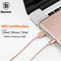 Baseus 1M/1.8M Metal MFI Certified USB Charging Cable For Lightning iPhone 5 6 6S 7 7Plus iPad iPod 2.4A Fast Data Charger Cable