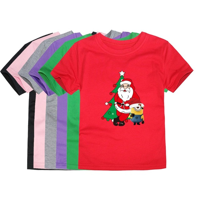 5c1a971b1 Little Bitty Summer Christmas Short Sleeve T Shirts Santa Claus T Shirts  for 1-14 Years Family Tees Kids Clothing