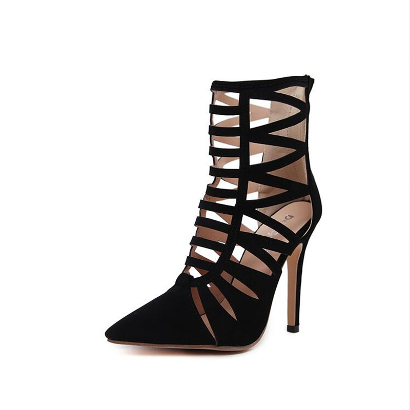 Early spring and early autumn Newest Hot sale shoes Woman Italy Black hollowed out sexy Pointed toe Thin heels Women shoes 35-40 lace cut out peep toe high thin heel black low platform pumps for woman in spring autumn hot sale big size 35 42