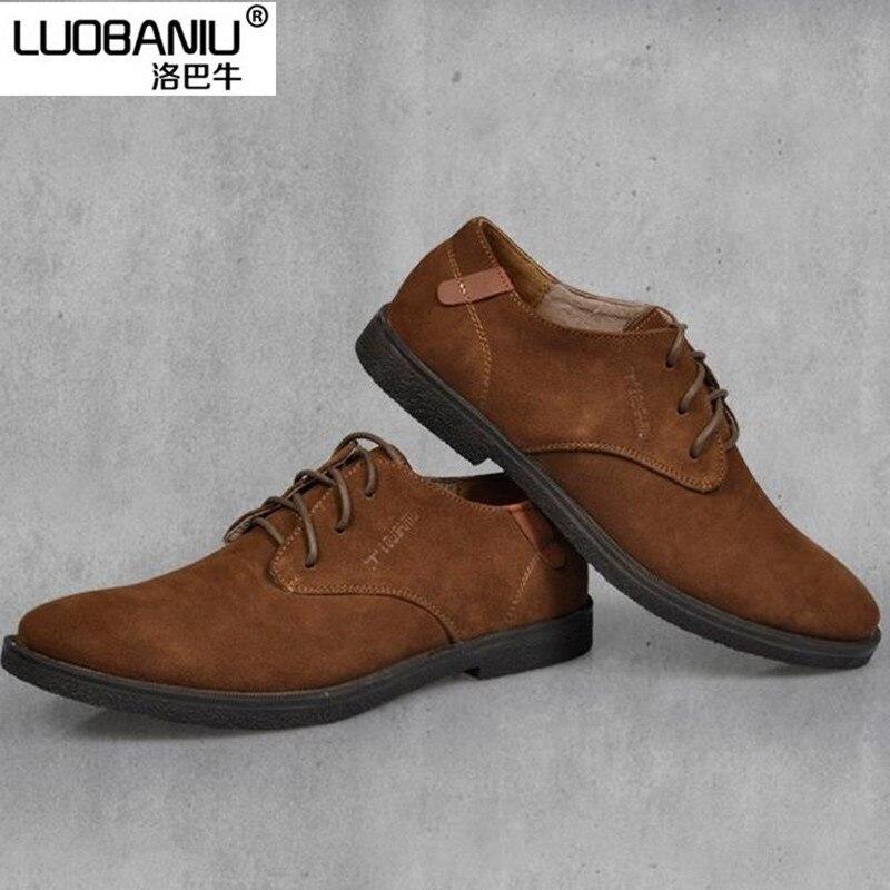 THWS Schuhe Herren Spitze Schuhe Business Casual, Braun 46