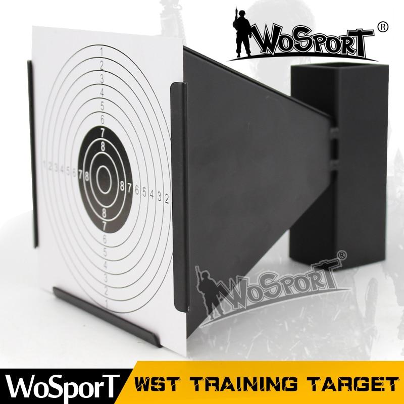 WoSporT WST extérieur intérieur Durable en acier cible pour tir à l'arc Airsoft BB pistolet tir activités d'entraînement 100 feuilles papier gratuit