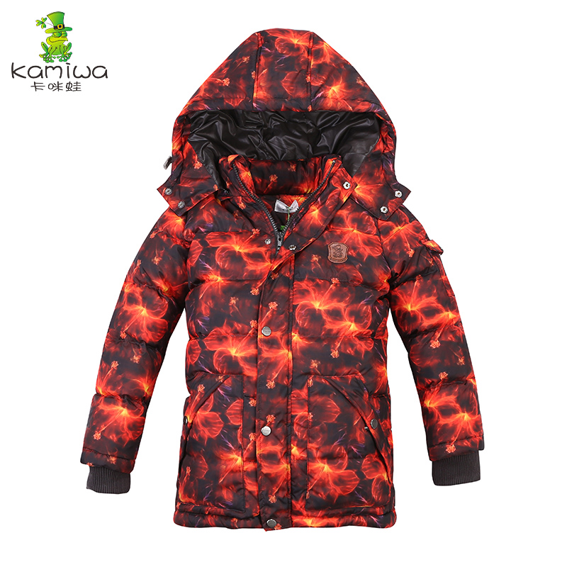 2018 Baby Boys Winter Coats And Jackets Geometric Printing White Duck Down Thicken Parkas Hooded Children Clothes Kids Clothing sundae angel jackets for girls white duck down long sleeve hooded frog pattern kids baby boys outerwear coats children clothing