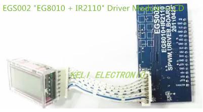 """Frete Grátis! 1 Pcs Senoidal Pura Inversor de Onda Bordo Motorista EGS002 """"EG8010 + IR2110"""" Módulo de Driver de LCD +"""