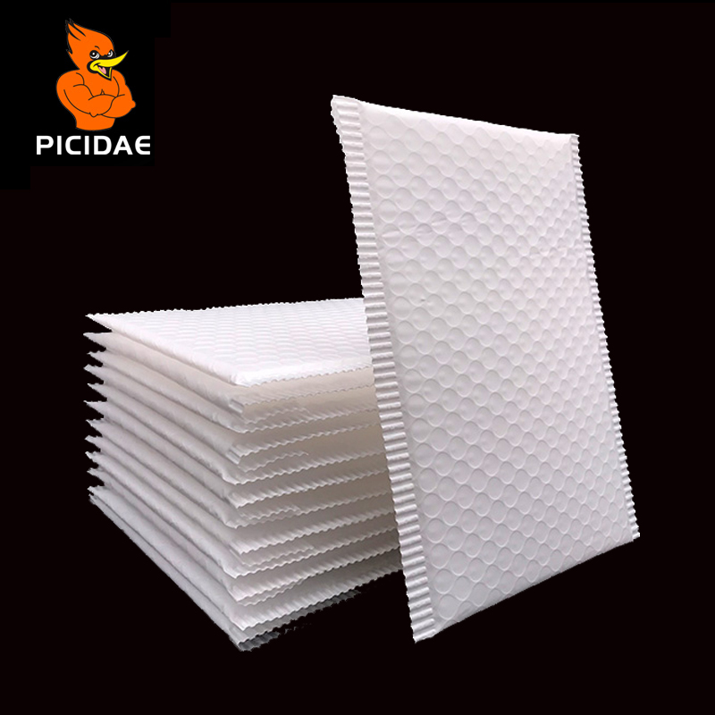 Bubble Buffer Anti-fall Poly Mailer White Push Protection Uppblåsbara plastförpackning väska Vattentät Logistik Courier China
