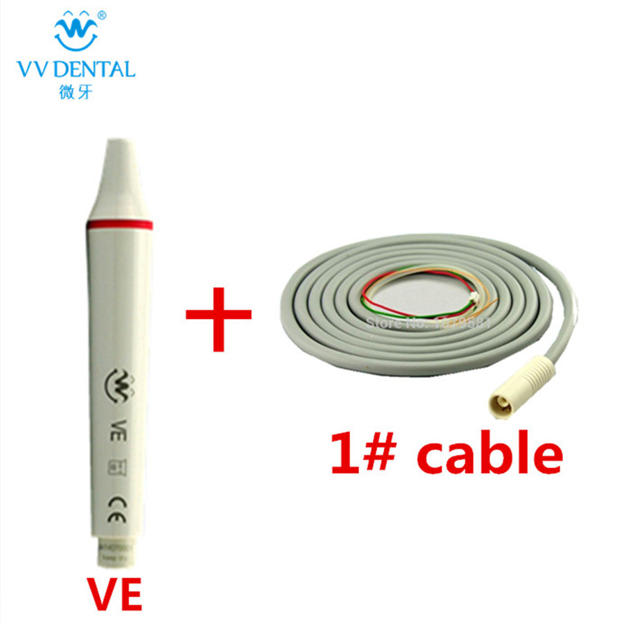 Teeth whitening ultrasonic dental scaler handpiece and scaler cable for EMS/ WOODPECKER ultrasonic dental scaler handpiece with tips and torque wrench compatible with ems woodpecker teeth whitening dental equipment