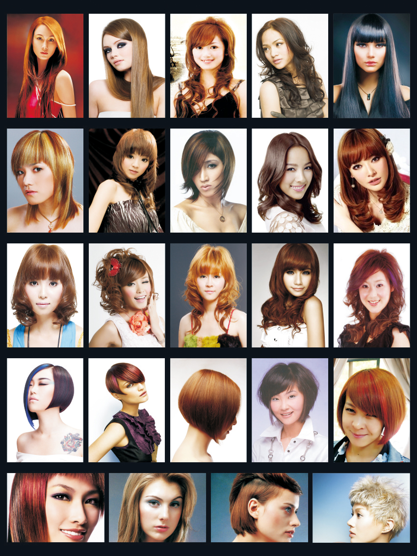 collage hair style hairstyle posters for hair salons hair 6787