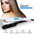 Профессиональный паровой выпрямитель для волос  расческа с распылителем  утюжок  щетка для выпрямления волос с ЖК-дисплеем  инструменты для...
