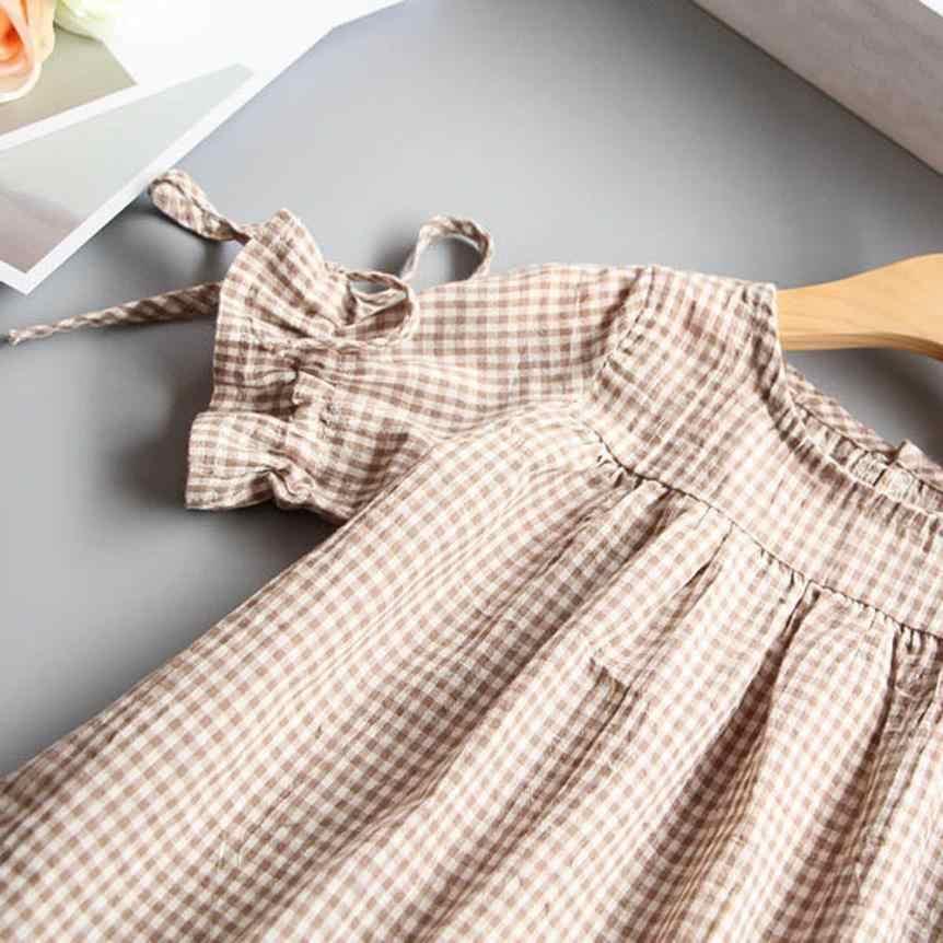 Одежда для маленьких девочек; клетчатая футболка с бантом; топы; праздничные платья принцессы; 11 августа