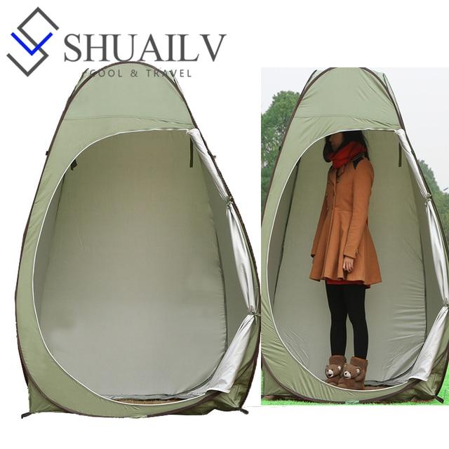 Rapide ouverture automatique tente pour camping en plein air douche wc tente sans fond portable for Douche plein air