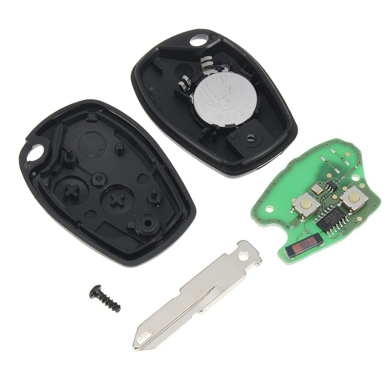 New Car Key Uncut Remote Key Fob 2 Button 433MHz PCF7946 for Renault Kangoo 2003 2008