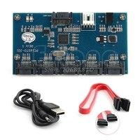 Adapter Card SATA 1 To 5 Port Converter SATA Port Multiplier Riser Card Hub Drop Shipping