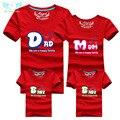 1 peça de Moda Família Roupas Combinando Tshirt 16 Roupas de Cor Para combinar roupas da família mãe pai Do Bebê Camisa de Manga curta
