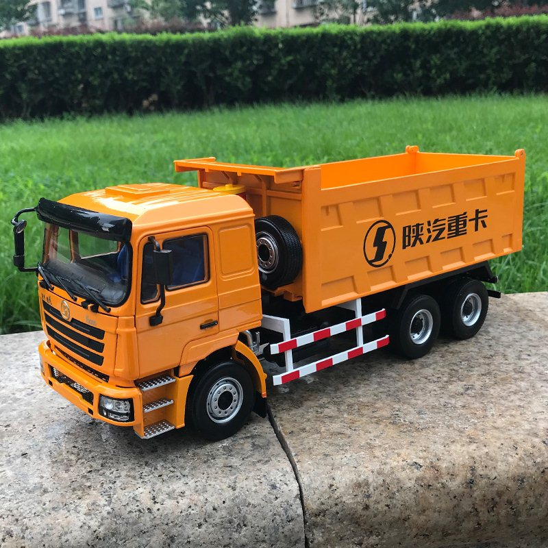 Exquisite 1:24 Heavy Duty Truck SHACMAN Delong F3000 Dump Truck Construction Vehicles Diecast Toy Model Collection,Decoration