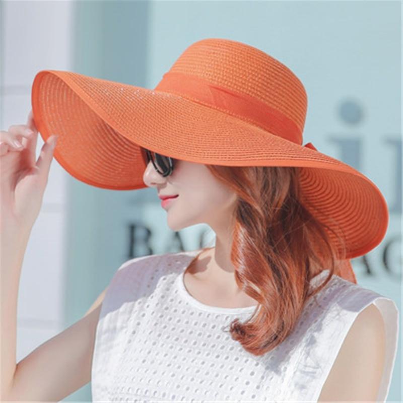 İsti Satış Yay Günəşli Şapka Qadınlar Üçün Böyük - Geyim aksesuarları - Fotoqrafiya 5