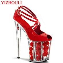 20 cm motocicleta de las mujeres de los zapatos de la boda de la flor  zapatos 4da434d548b8