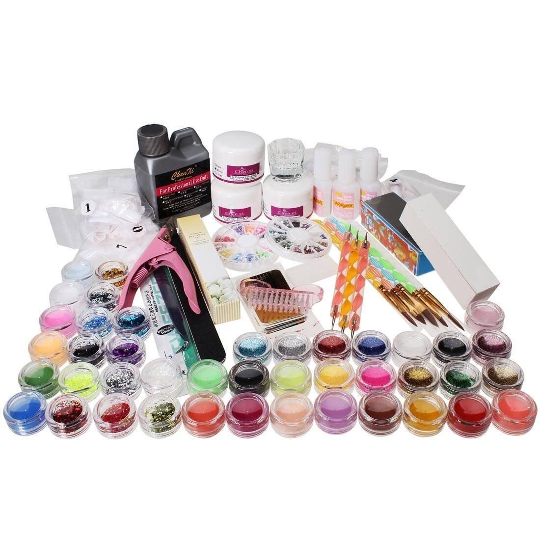 5PACK (kits da arte Do Prego Cuidado Do Prego Prego Ferramentas de Design de Unhas de Acrílico Em Pó Escova Glitter Dica - 3