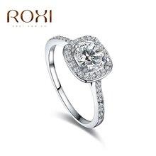 Roxi циркония окружающей белая роза позолоченные хрусталь рождественский горный изделий кольца