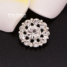 Diamante Button Crystal Rhinestone Button Sew On Flower Center 15MM 20pcs lot  Shank Back Silver accf97c5f681