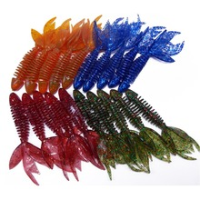20PCS BIG BASS BAIT 8g Creature soft baits using in the cover of shallow water area 4inch fishing lures Kit