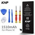 100% original de la marca khp capacidad real 1510 mah batería del teléfono para iphone 5c con máquinas herramientas kit de baterías móviles