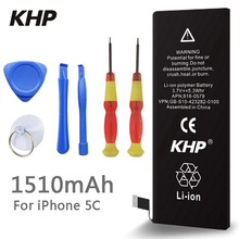 2017 New 100 Original KHP Phone Battery For iphone 5C Real Capacity 1510mAh With Machine Tools