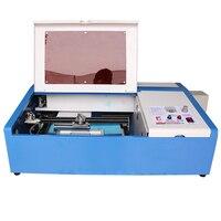 Бесплатная доставка co2 лазерная гравировка гравер машины лазерной резки сделать штамп большой мощности рабочая зона 30*20 Металл la