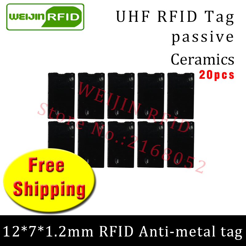 UHF RFID metal tag 915m 868m EPC ISO18000-6c 20pcs free shipping tools management 12*7*1.2mm thin Ceramics passive RFID tags uhf rfid metal tag 915m 868m epc iso18000 6c 20pcs free shipping tools management 12 7 1 2mm thin ceramics passive rfid tags