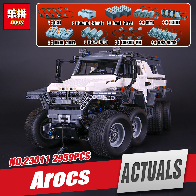 LEPIN 23011 2959Pcs New Technic Series Off-road vehicle Model 23011B Educational Building Kits Block Bricks Compatible Toys 5360