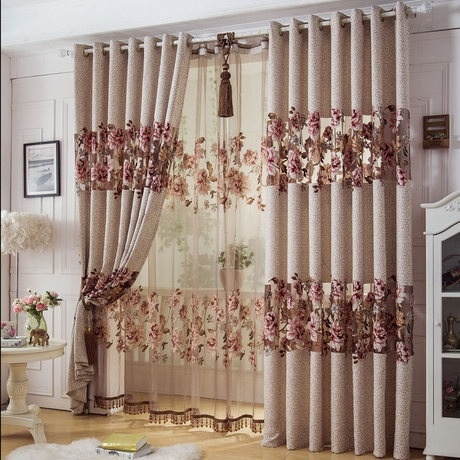 Home Decor Curtains For Windows Jacquard Cotton Burnt Tulle Curtain3 * 2.6m  Custom Curtains For Living Room Bedroom Curtain In Curtains From Home U0026  Garden ...
