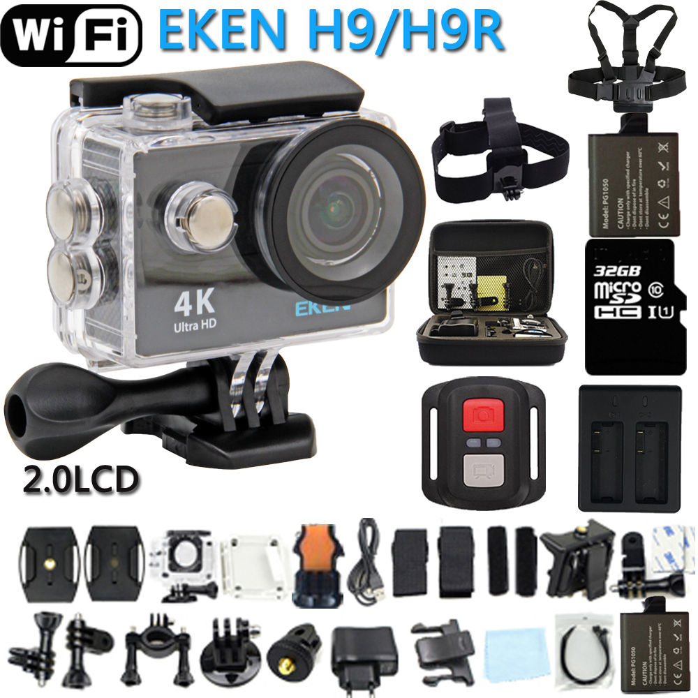 Original EKEN Action Camera H9 / H9R Ultra HD 4K WiFi Remote Control Sports Video Camcorder DVR DV go Waterproof pro Camera