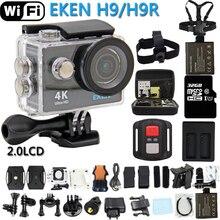 Original EKEN Cámara de Acción eken H9R/H9 Ultra HD 4 K Control Remoto WiFi Deportes cámara de Vídeo DV DVR ir Impermeable pro cámara