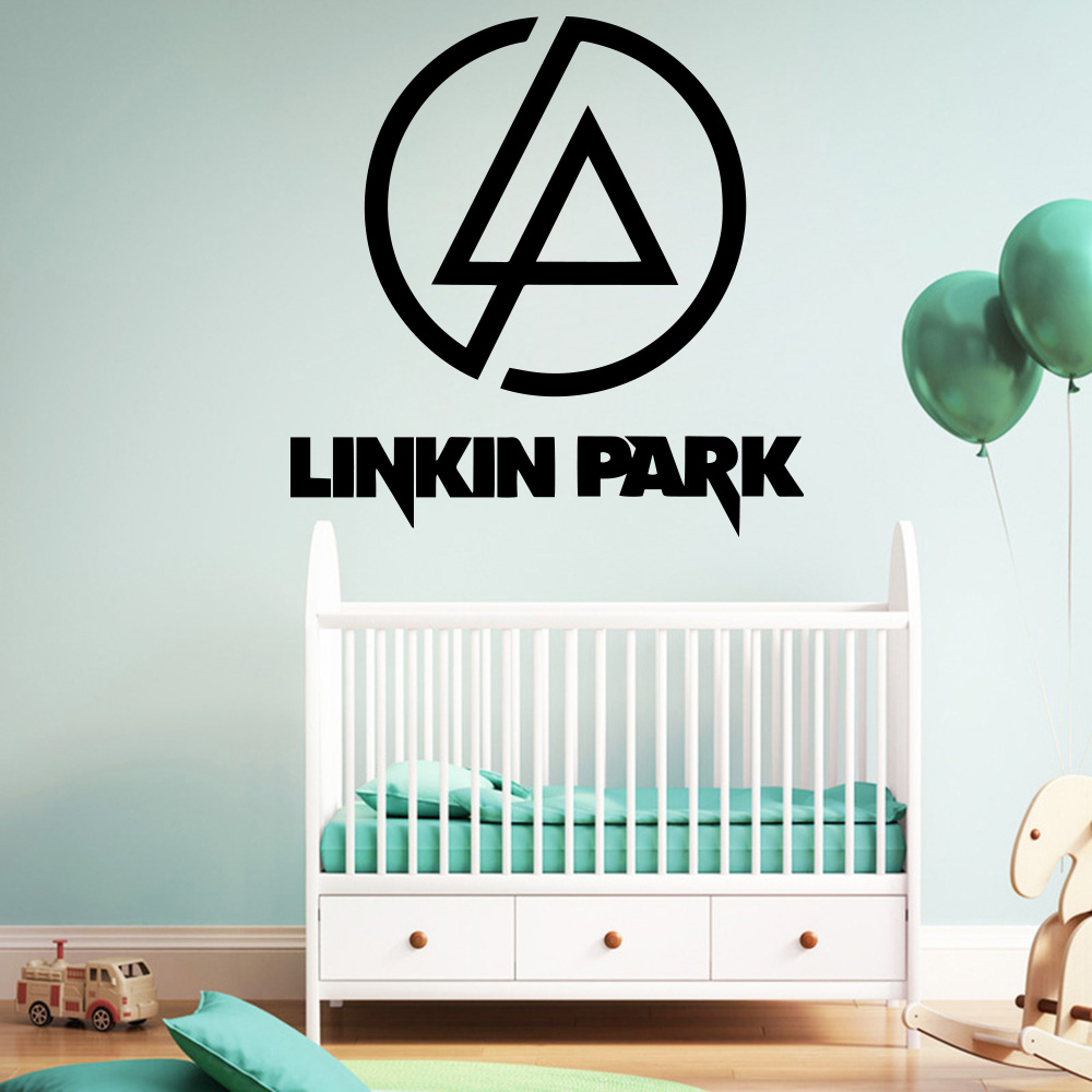 Hot Sale Linkin Park Wall Stickers Home Furnishing Stickers Decorative Wallstickers For Baby Kids Rooms Decor Vinyl Art Decal