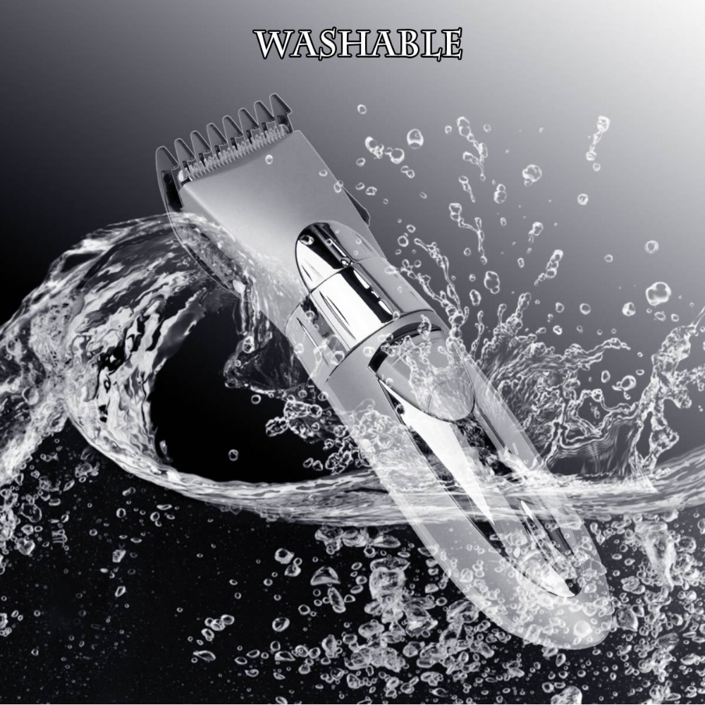Cordless Hair Clipper Professional Waterproof Beard Trimmer Rechargeable Hair Razor Water Resistant Hair Cutting Machine 40
