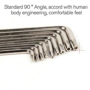 Image 5 - 9 Pcs Hex Wrench Sets Torx L Shape Repair Tools Screwdriver Tool Set Plum Screwdriver T6 T27 CRV Standrad 90 Angle