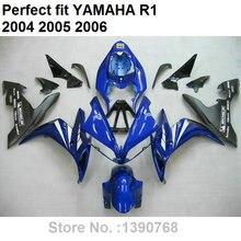 Обтекатель комплект для Yamaha YZF R1 04 05 06 цвет синий, черный; Большие размеры 34–43 детали кузова обтекатели YZFR1 2004 2005 2006 LV07