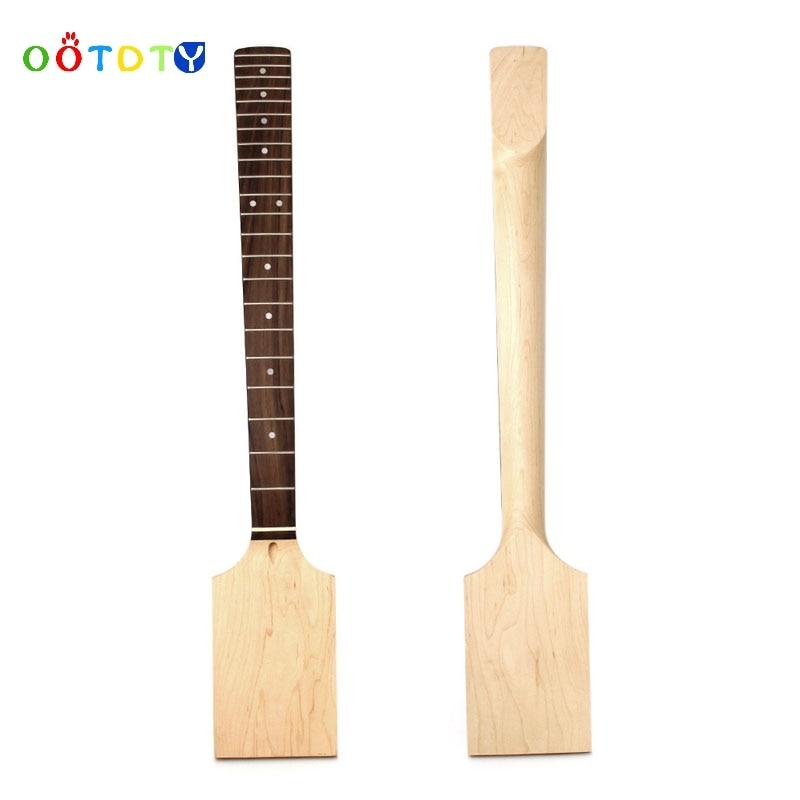 Electric Guitar 22 Fret Neck Paddle Head Maple Wood Bolt Unfinished Jul17_35 new 1pcs electric guitar neck maple wood fretboard paddle 22 fret 25 5 bolt on