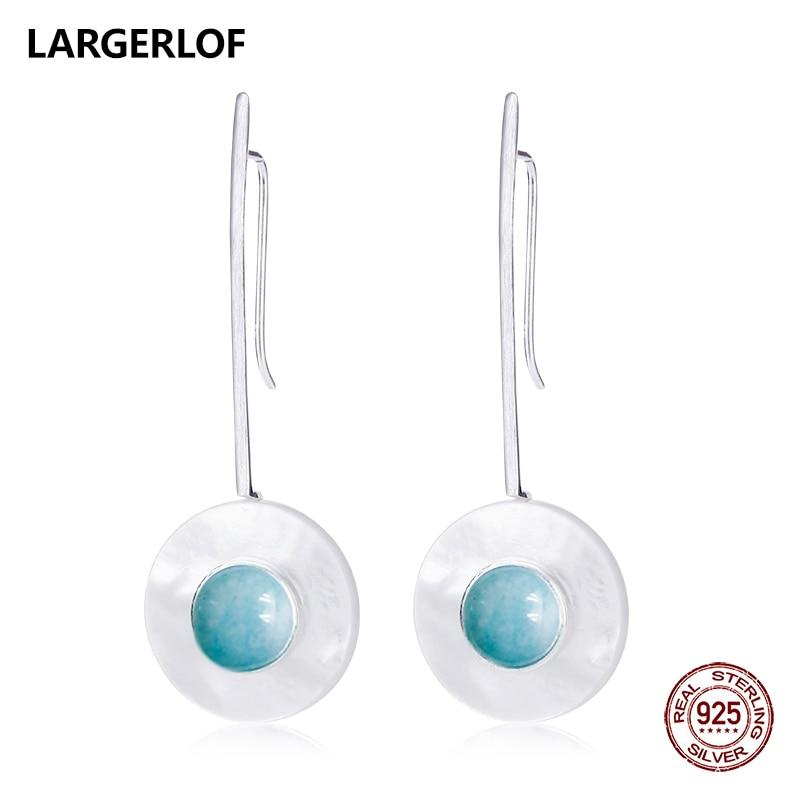 LARGERLOF Silver Earrings Handmade Crystal Earrings Women Silver 925 Jewelry 925 Sterling Silver Earrings For Women ED50151 недорго, оригинальная цена