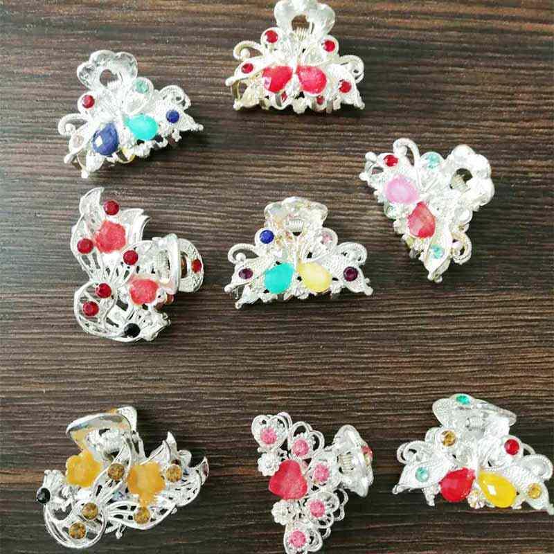 TB1023 индийские винтажные бабочки маленькие когти для волос зажим милое сердце кристалл свадебные аксессуары для волос украшения для волос головной убор